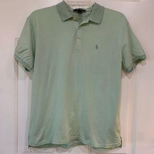 Ralph Lauren Mint Green Polo Golf Shirt sz M